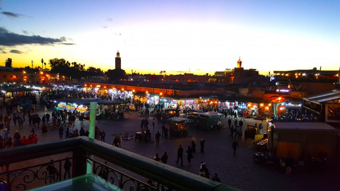 Dusk in the Place Jemaa el-Fna, Marrakech