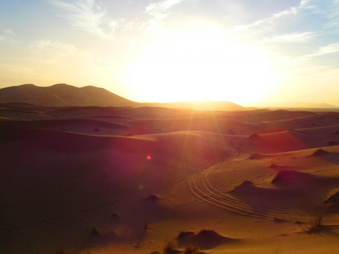 Sunset in the Erg Chebbi desert