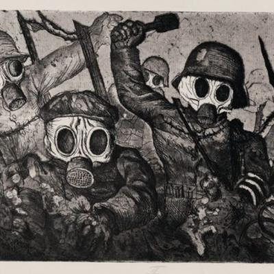 Otto Dix, Assault Troops Advance under Gas 1924